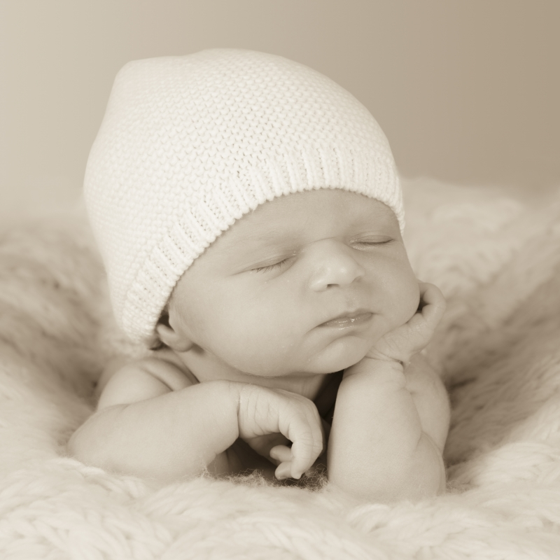 Tessa au 14ième jour après sa naissance.
